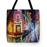 Two Streets - Palette Knife Oil Painting On Canvas By Leonid Afremov Tote Bag