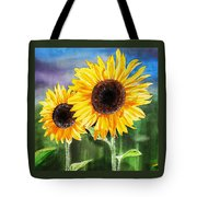 Two Sunflowers Tote Bag
