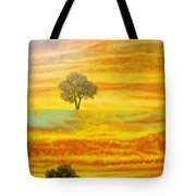 Two Sunsets In Limassol Tote Bag