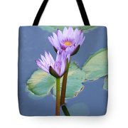Two Tall Water Lilies Tote Bag