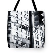 Two Times Wall St. Tote Bag by John Rizzuto