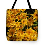 Two Toned Yellow Blooms Tote Bag