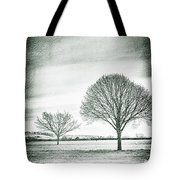 Two Trees In A Field Tote Bag