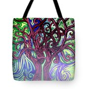 Two Trees Twining Tote Bag