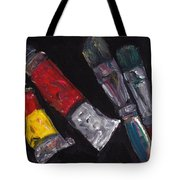 Two Tubes Two Brushes Tote Bag