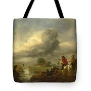 Two Vedettes On The Watch By A Stream Tote Bag