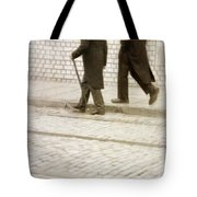Two Victorian Men Walking Tote Bag