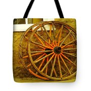 Two Wagon Wheels Tote Bag by Jeff Swan