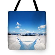 Two Ways Choice In Winter Tote Bag