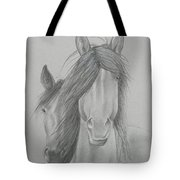 Two Wild Horses Tote Bag