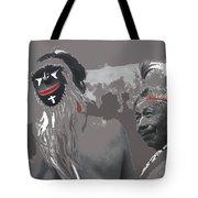 Two Yaqui Pascola Dancers Gallery In The Sun Tucson Arizona 1969-2013 Tote Bag