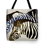 Two Zebras Tote Bag