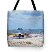 Tybee Island Kite Surfing Tote Bag