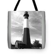 Tybee Island Lighthouse - Bw Tote Bag