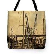 Tybee Island Shrimp Boats Tote Bag