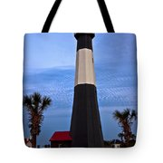 Tybee Light And Palms Tote Bag