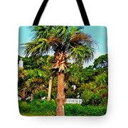 Tybee Palm Tote Bag