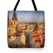 Tyn Church Old Town Square Tote Bag