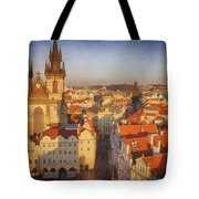 Tyn Church Old Town Square Tote Bag
