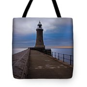 Tynemouth Pier Lighthouse Tote Bag