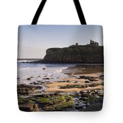 Tynemouth Priory And Castle Across King Edwards Bay Tote Bag