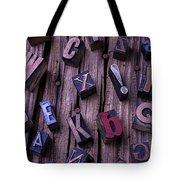Typesetting Blocks Tote Bag