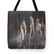 Typha Cattail Spikes Seeds Tote Bag