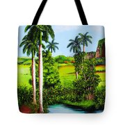 Typical Country Cuban Landscape Tote Bag