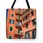 Typical Ligurian Homes Tote Bag