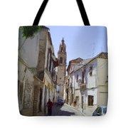 Typical Street In Ecija Spain Tote Bag