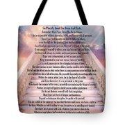 Typography Art Desiderata Poem On Stairway To Heaven Tote Bag