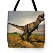 Tyrannosaurus Rex Dinosaur Walking Tote Bag