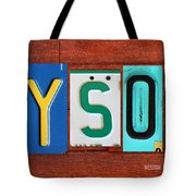 Tyson License Plate Name Sign Fun Kid Room Decor Tote Bag