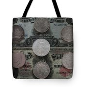 U S History Of Silver Dollars Tote Bag