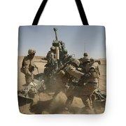 U. S. Marines Ram A Satellite-guided Tote Bag