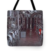 U S S Bowfin Submarine Engine Room Tote Bag