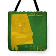 Uab University Of Alabama At Birmingham Blazers College Town State Map Poster Series No 009  Tote Bag