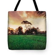 Ubud Rice Fields Tote Bag