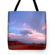 Ufo At Monument Valley Tote Bag