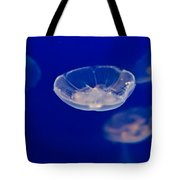 Ufo-moon Jellyfishes Tote Bag by Eti Reid