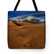 Ufos Over Sand Dunes Tote Bag