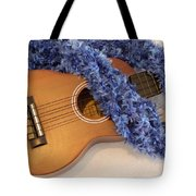 Ukulele And Blue Ribbon Lei Tote Bag