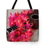 Ukulele And Red Lei Tote Bag