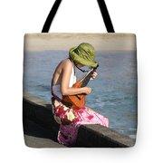 Ukulele Lady At Hanalei Bay Tote Bag