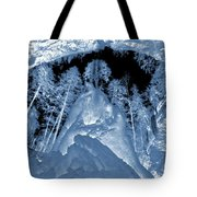 Ultraviolet Cave In Winter Tote Bag