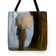 Umbrella And Tree Tote Bag