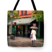 The Purple Bag - New York City In The Rain Tote Bag