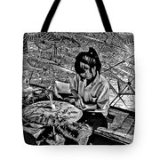 Umbrella Maker Bw Tote Bag