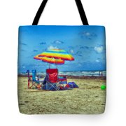 Umbrellas At The Beach Tote Bag