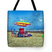 Umbrellas At The Beach Tote Bag